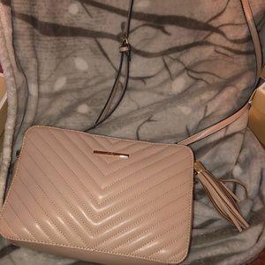 Light pink cross body purse